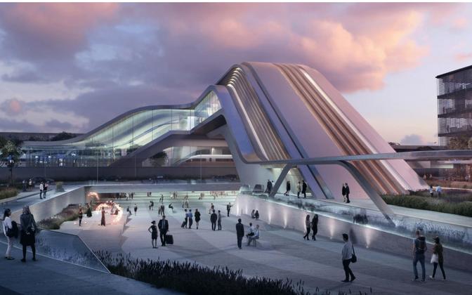 Ülemiste terminali arhitektuurivõistluse võitnud projekt