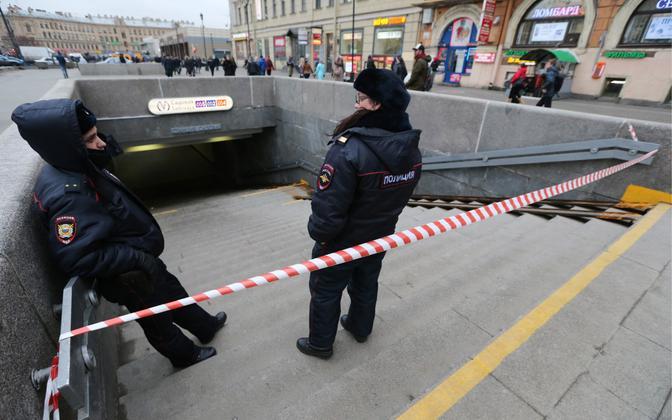 Vene politseinikud, arhiivifoto.