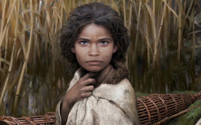 Lollandi saarelt leitud tütarlapse DNA põhjal koostatud rekonstruktsioon.