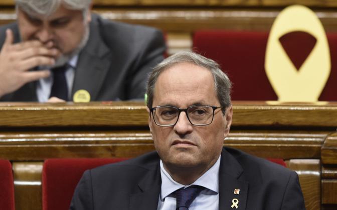 Kataloonia regionaalvalitsuse president Quim Torra.