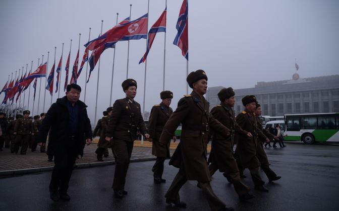Korea rahvaarmee sõdurid.