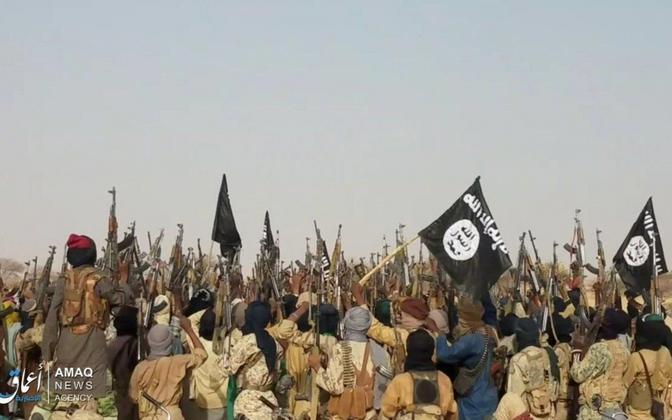ISIS-e võitlejad Aafrikas, Amaqi varem levitatud foto.