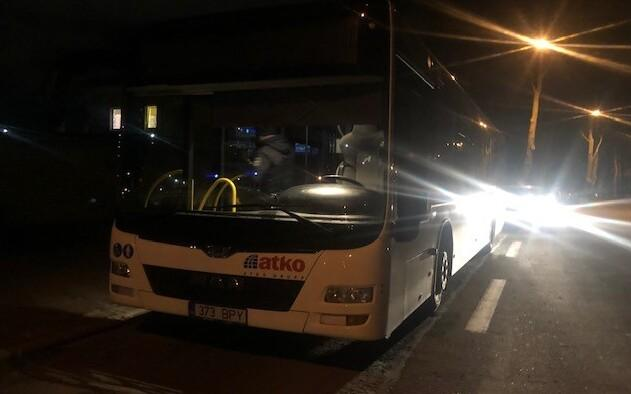 The Narva bus which had been driven by a drunk driver.