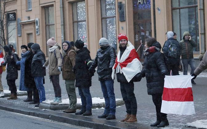 Meeleavaldus Minskis Venemaaga ühinemise vastu.