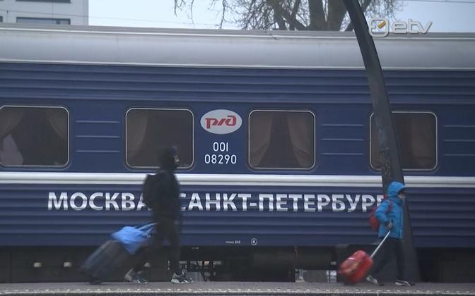 Moscow - Tallinn train.