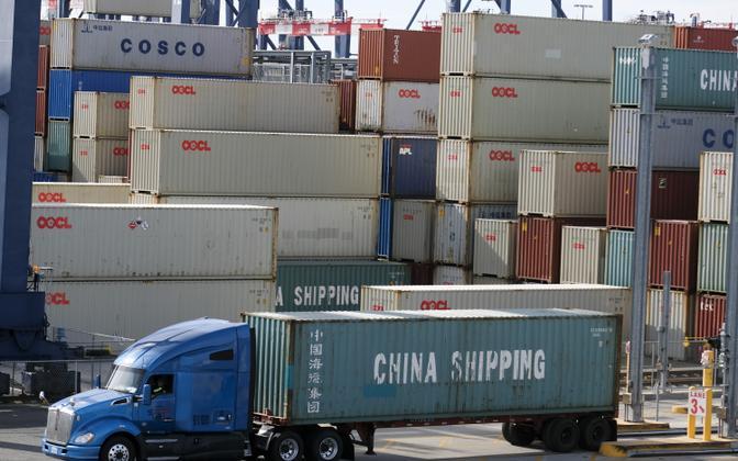 Kaubakonteinerid Californias Long Beachi sadamas.