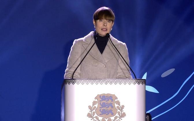 President Kersti Kaljulaid on January 1, 2020.
