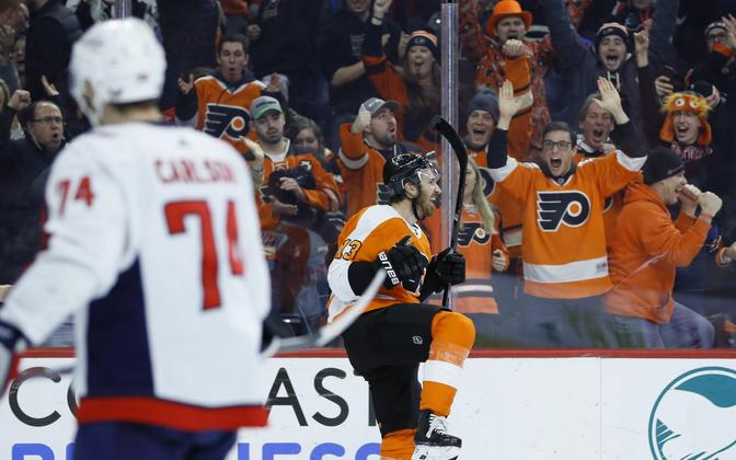 Philadelphia Flyers alistas kodujääl Washington Capitalsi.