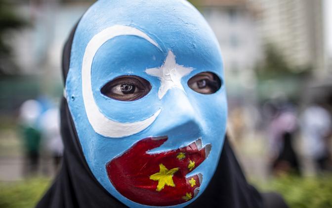 Uiguure toetav meeleavaldus Indoneesias.