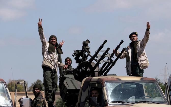 Liibüa idapoolset osa valitseva kindral Khalifa Haftar juhitava LNA võitlejad.