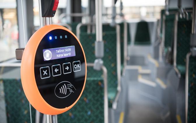 Tallinn bus ticket validator.