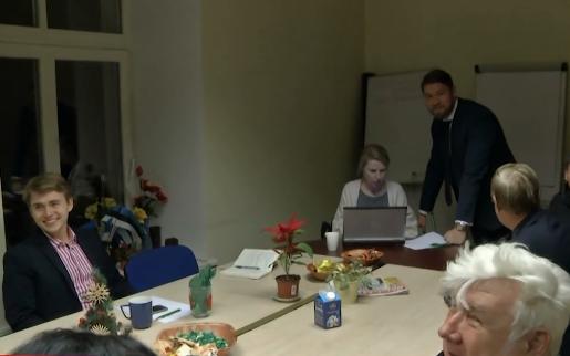 Thursday evening's Center Party Tartu branch meeting.