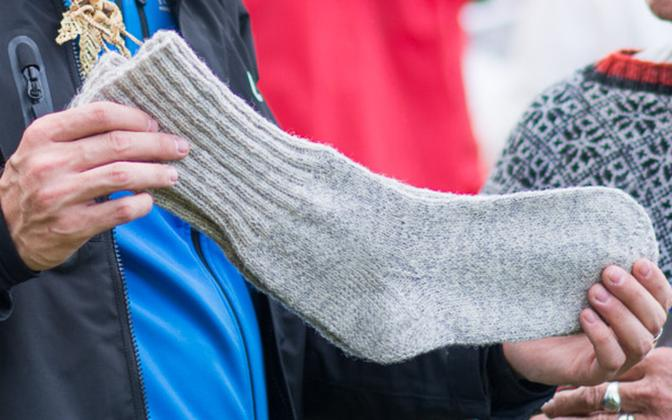 Sock. Photo is illustrative.
