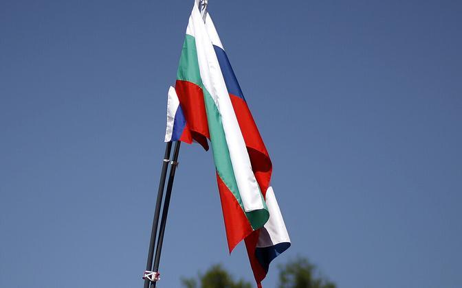 Bulgaaria ja Venemaa lipp.