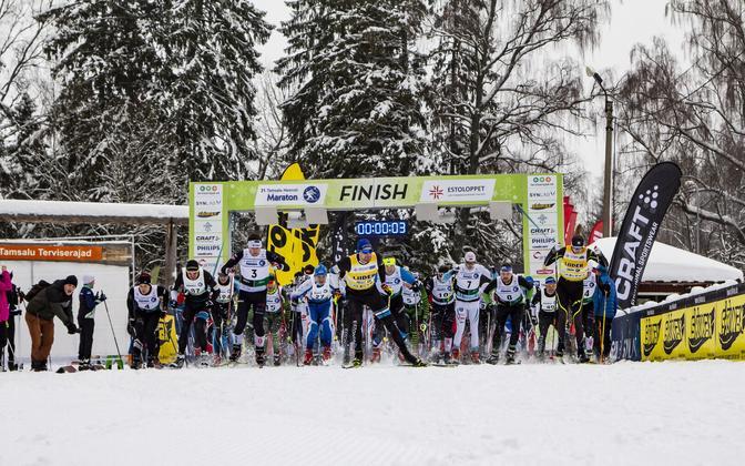 21. Tamsalu-Neeruti suusamaratoni start
