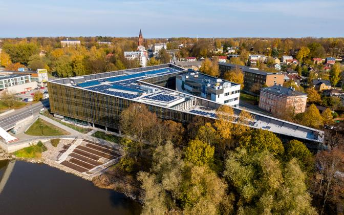 University of Tartu Delta Center on the bank of the Emajõgi River.