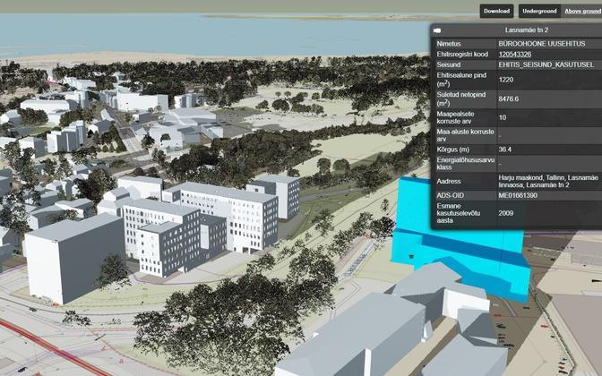 Модель будет показывать не только существующие, но и запланированные здания.