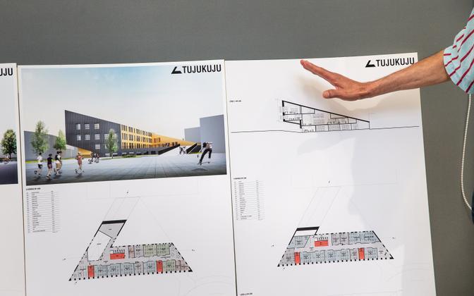 Архитектурный конкурс на строительство новой Йыхвиской основной школы выиграл проект Tujukuju