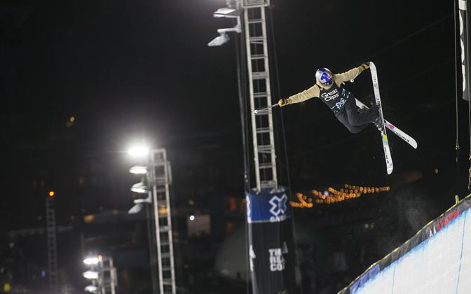 Kelly Sildaru in competition last year.