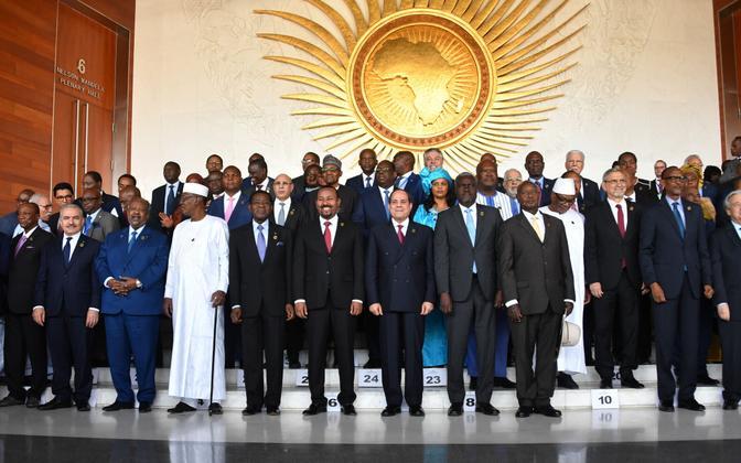 Aafrika Liidu tippkohtumine.