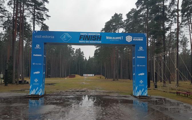 Tartu Marathon finish line.