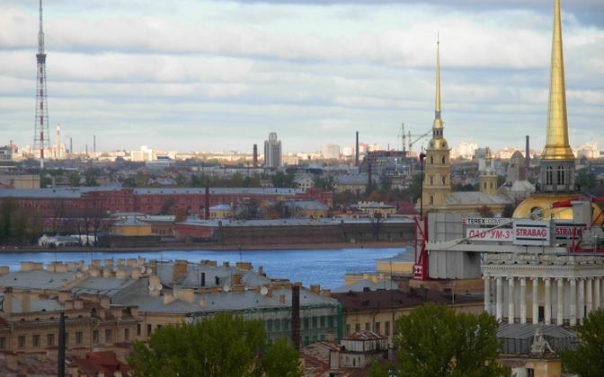 St. Petersburg skyline.