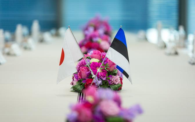 Estonian and Japanese flags.