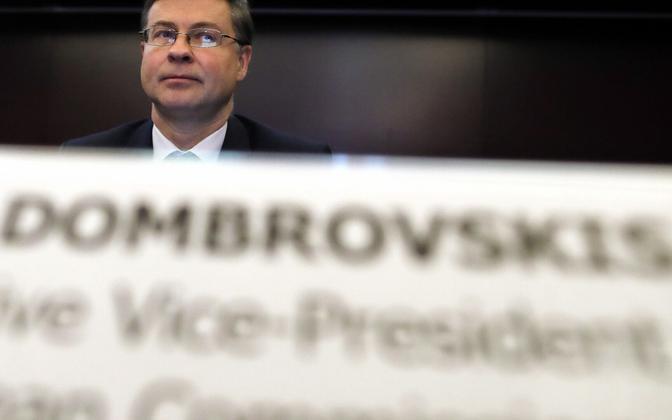 Euroopa Komisjoni majanduse valdkonna juhtiv asepresident  Valdis Dombrovskis.
