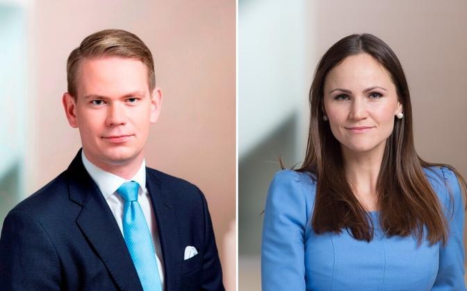 Oliver Nääs and Diana Minumets.