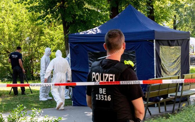 Saksa politsei sündmuskohal Berliinis 2019. aasta augustis.
