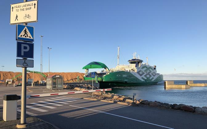 Ferry at Heltermaa port on Hiiumaa.