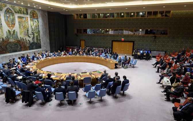 ÜRO Julgeoleklunõukogu reedel Süüria olukorda arutamas.
