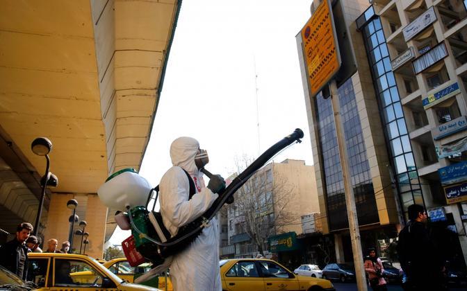 Desinfitseerimine Teheranis.