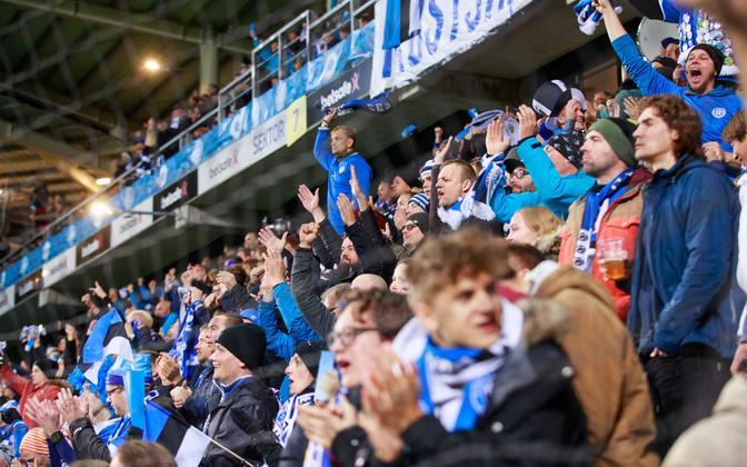 Estonian football fans.