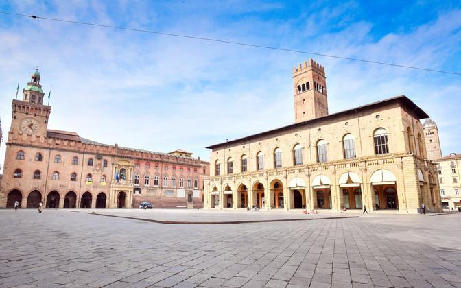 Inimtühi Bologna kesklinn.