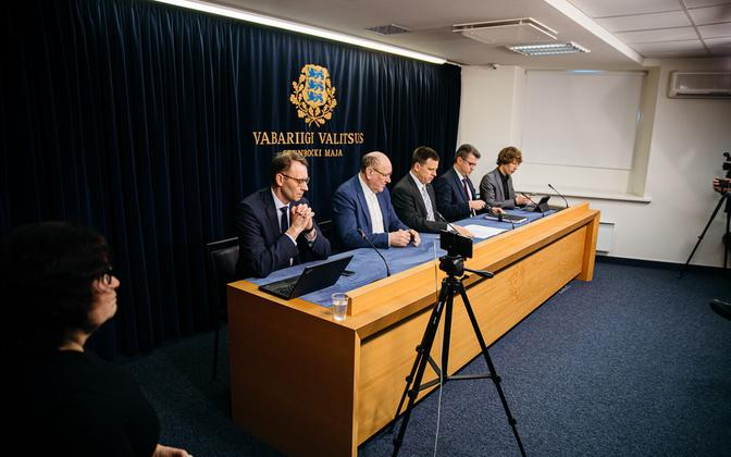 Government press conference on the coronavirus emergency situation on Friday.