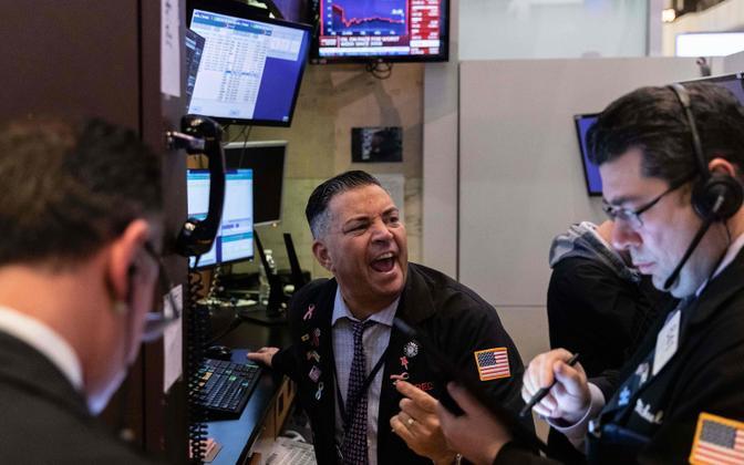 Kauplejad New Yorgi börsil.