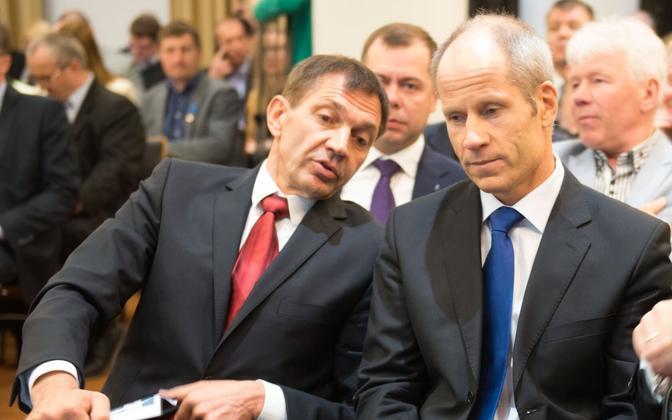 Urmas Sõõrumaa ja Tõnu Tõniste eelmistel EOK presidendivalimistel.