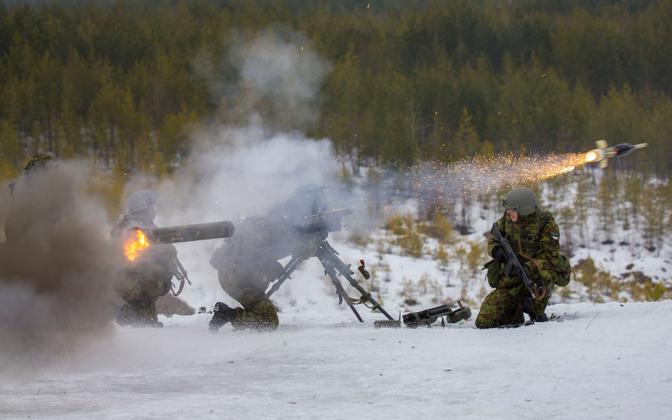 Raytheon Javelin anti-tank missile during training in Estonia.