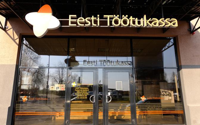 An Estonian Unemployment Insurance Fund (Töötukassa) office on Vaksali Street in Tartu.