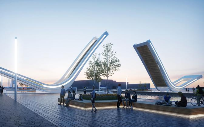 The new bridge which will be built at the Old Harbor in Tallinn.