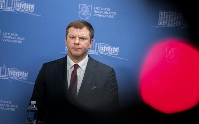 Leedu rahandusminister Vilius Sapoka.