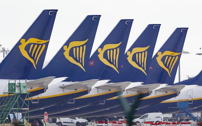 Ryanairi lennukid Dublini lennuväljal.