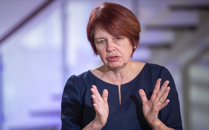 Head of the government's COVID-19 scientific council Irja Lutsar.