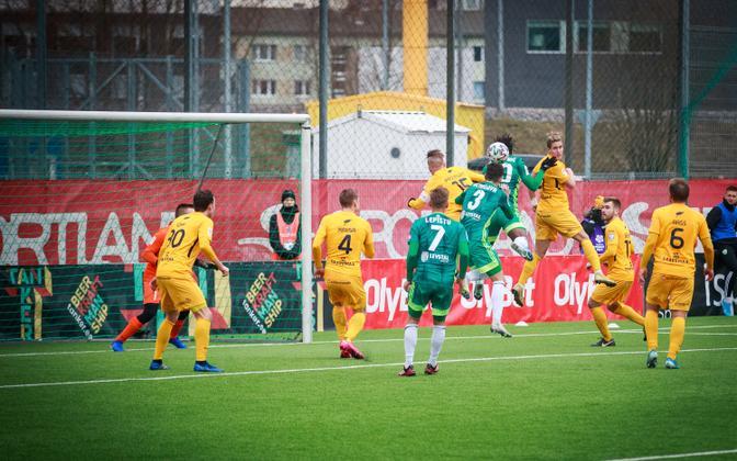 A Premium liiga match between Tallinna FCI Levadia and FC Kuressaare