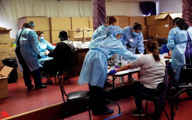 Koroonaviiruse antikehade testimine New Yorgis.