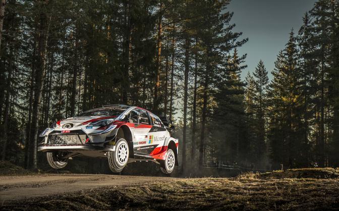 Sebastien Ogier Rootsi rallil 2020. aasta Toyota Yarisega