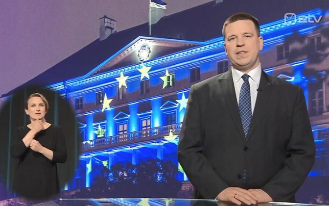 Prime Minister Jüri Ratas in his ETV address Sunday night.