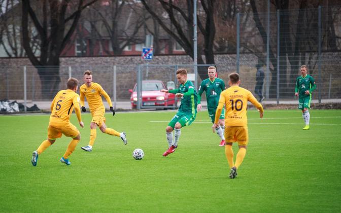 Premium liiga kohtumine Tallinna FCI Levadia ja FC Kuressaare vahel