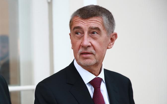 Премьер-министр Чехии Андрей Бабич во время визита в Эстонию.